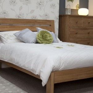 Homestyle Trend Oak Furniture Slatted Double Bed 4ft 6