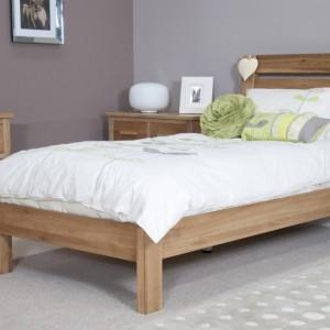 Homestyle Trend Oak Furniture Slatted Super King Size Bed 6ft