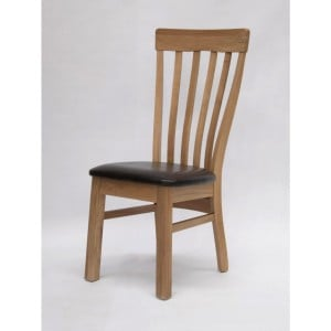 Homestyle Chair Collection Lucia Bicast Leather Dining Chair Pair