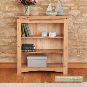 Roscoe Contemporary Oak Furniture Small Bookcase