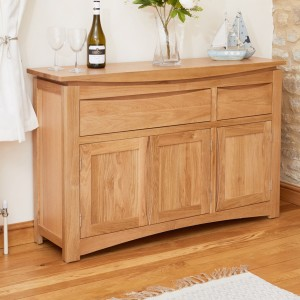 Roscoe Contemporary Oak Furniture Large Sideboard