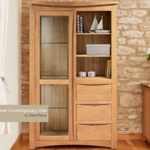 Roscoe Contemporary Oak Furniture Display Cabinet
