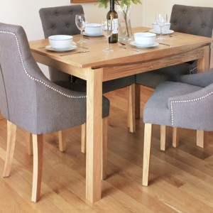 Roscoe Contemporary Oak Furniture 120cm Small Dining Table
