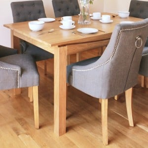 Roscoe Contemporary Oak Furniture 150cm Large Dining Table