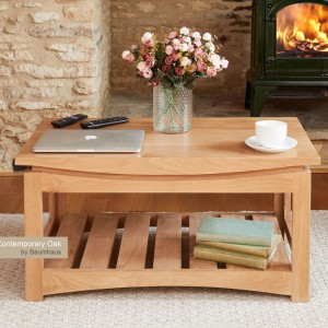 Roscoe Contemporary Oak Furniture Coffee Table