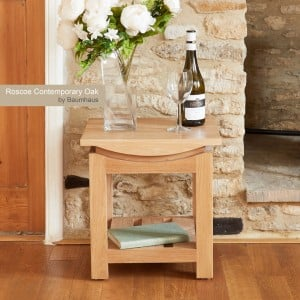 Roscoe Contemporary Oak Furniture Lamp Table