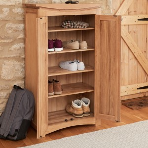 Roscoe Contemporary Oak Furniture Shoe Storage Cupboard