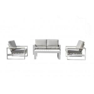 Maze Rattan Amalfi Garden 2 Seat Sofa Set White