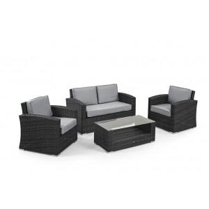 Maze Rattan Kingston Garden Grey 2 Seat Sofa Set
