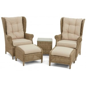 Maze Rattan Garden Winchester High Back Lounge Set